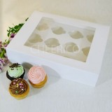 12 Cupcake Window Box w Flexi hole($3.50/pc x 25 units)