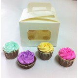 4 Cupcake Window Box with Handle($2.60/pc x 25 units)