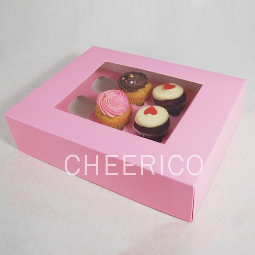 12 Pink Cupcake Window Box ($3.60/pc x 25 units)