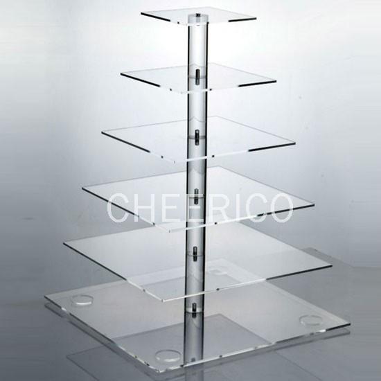 6 Tier  Square Pole Cupcake Stand