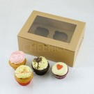 2 Cupcake Kraft Window Box($2.00/pc x 25 units)