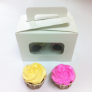 2 Cupcake Window Box with Handle($2.20/pc x 25 units)