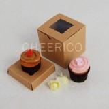 1 Kraft Brown Window Mini Cupcake Box ($1.40/pc x 25 units)