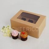 6 Kraft Brown Window MIni Cupcake Box ($2.30/pc x 25 units)